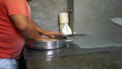 Tortilla dough balls on a tray Stock Footage