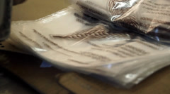 Tortilla labeling and packaging Stock Footage