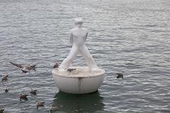 Boy buoy - stock photo