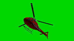 Helicopter Eurocopter fly green screen - stock footage