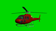 Helicopter Eurocopter fly green screen Stock Footage