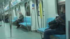 Marmaray Tube Tunnel(124) Stock Footage