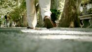 Stock Video Footage of Feet of a man who's walking
