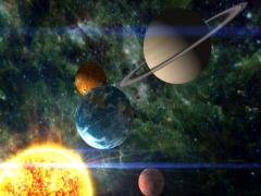 Condensed Solar System - stock footage