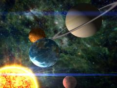 Condensed Solar System Stock Footage