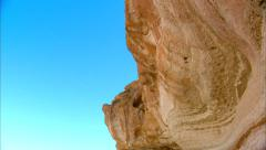 High Desert Overlook Rock Formation Stock Footage