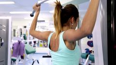 Daily Gym Work Out Routine- Young Woman Stock Footage