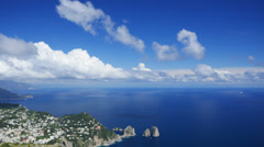Stock Video Footage of 4K 4096x2304 Capri landscape/seascape, Italy, time-lapse.