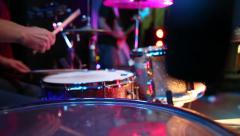 Stock Video Footage of Drummer Playing Drums