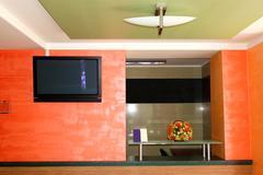 the modern reception at luxury hotel, strbske pleso ski resort, high tatras, - stock photo