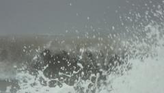 Rough Ocean Hurricane Waves Stock Footage