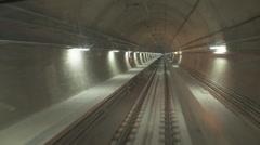 Marmaray Tube Tunnel(132) Stock Footage