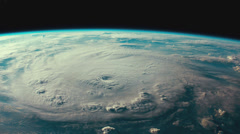 Menacing hurricane as viewed from space. - stock footage