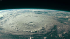 Breathtaking view of a menacing hurricane from space. Stock Footage