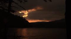 Sunset in Rodopi mountain Stock Footage