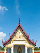 buddhism temple of the most beautiful in thailand. - stock photo