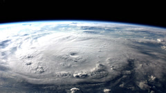 Breathtaking view of a menacing hurricane from space. - stock footage
