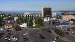 Anchorage streets 9 Stock Footage