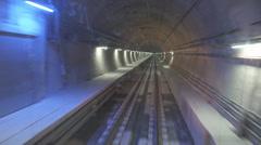 Marmaray Tube Tunnel(133) Stock Footage