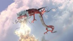 Red dragon China Stock Footage