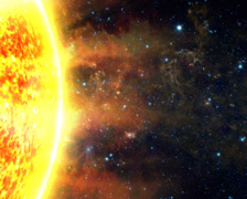 Sun and Solar Flares Stock Footage