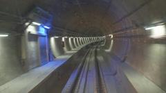 Marmaray Tube Tunnel Stock Footage