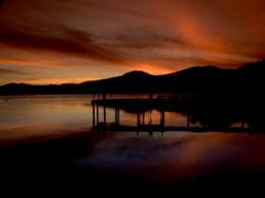 Sunset Lake Tahoe - stock footage