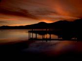 Stock Video Footage of Sunset Lake Tahoe