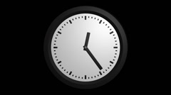 Fast clock ticking with alpha Stock Footage