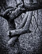 Gothic Tree Stock Illustration