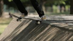 street skateboarding - stock footage