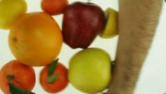 Substituting Food for Pill Diet Supplements Stock Footage