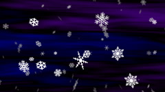 Midnight Snow Blue-Violet Loop Stock Footage