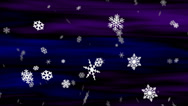 Stock Video Footage of Midnight Snow Blue-Violet Loop