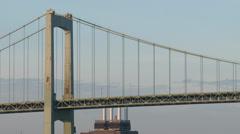 4k Walt Whitman Bridge Stock Footage