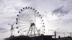 Ferris Wheel Afternoon Stock Footage