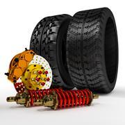 3d car accessories. Stock Illustration