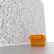 Numbers wall. Stock Illustration