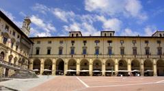 Tuscany, arezzo, piazza grande Stock Footage