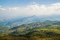 mountain with blue sky landscape at phu tab berk, in petchaboon , thailand - stock photo