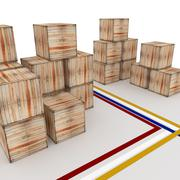 crate. - stock illustration
