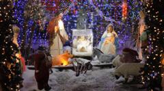 Christmas house - stock footage