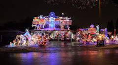 Christmas House Stock Footage
