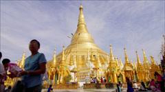 Shwedagon Zedi Daw (Shwedagon Pagoda) in Yangon Stock Footage