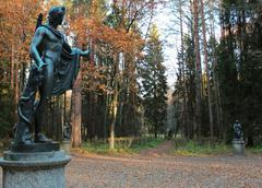 Apollo statue in pavlovsk park Stock Photos