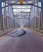 alaska highway alcan steel bridge infrastructure - stock photo