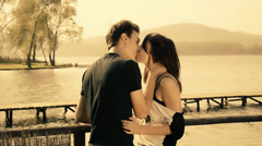 Romantic young couple Stock Footage
