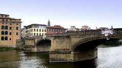 Florence, arno river Stock Footage