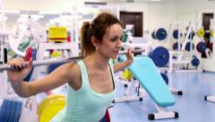 Gym Work Out_Young Woman Arkistovideo