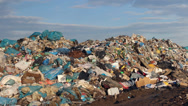 Stock Video Footage of Mountains of garbage at the garbage landfill.